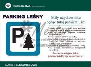 Tablica Parking leśny (p11)